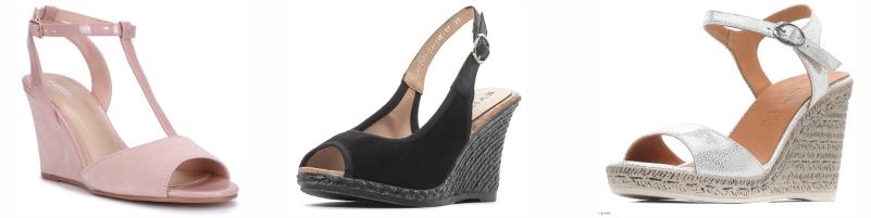 Базовая обувь в гардеробе женщины, базовые босоножки на танкетке