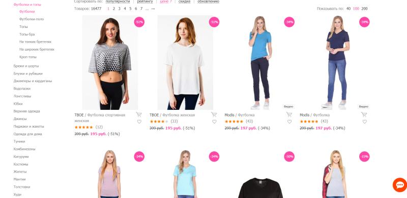 недорогие футболки в интернет магазине